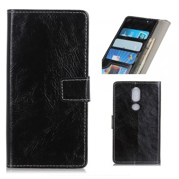 Vāciņš apvalks maciņš priekš Nokia 4.2 | Leather Wallet Stand Case for Nokia 4.2 - Black