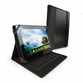 Tuff-luv Slim-Stand Leather Case Cover for the Asus Transformer Prime TF201 / TF300 / TF700 Infinity - 'Graphite' Grey