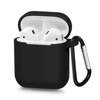 AirPods 2gen / 1gen Silicon Simple Case Cover, Black