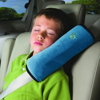 Comfortable Car Cushion Pad for Seat Belt, Blue