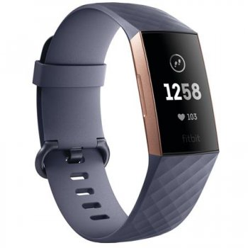 Fitbit Charge 3 rosegold/blue grey