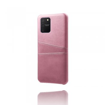 Samsung Galaxy S10 Lite (SM-G770F) PU Leather Coated Hard PC Case Cover - Rose Gold | Vāks bamperis