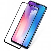 Xiaomi Mi 9 Baseus PET Soft 3D Tempered Glass Film 0,3 mm, Black | Aizsargstikls, Melns