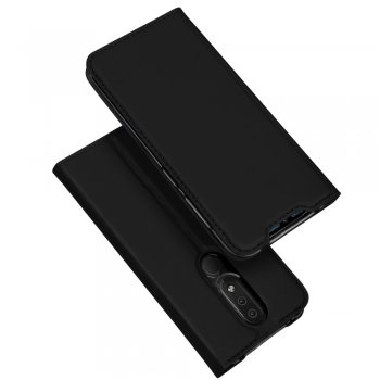 Vāciņš apvalks maciņš priekš Nokia 4.2 | DUX DUCIS Leather Shell Cover with Card Slot for Nokia 4.2 - Black