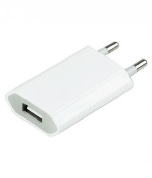 5V 1A USB travel wall charger adapter lādētājs adapteris priekš telefoniem, e-grāmatām (iphone kindle pocketbook) - white