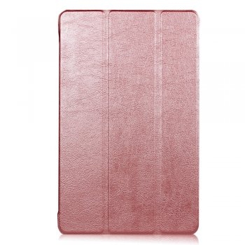 "Samsung Galaxy Tab A 2016 10.1"" SM-T580 T585 Tri-fold Stand Smart Leather Case Cover, Rose gold"