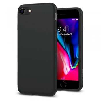 "Apple iPhone 7 8 4.7"" Matte TPU Case Cover Shell, black - matēts silikona vāciņš maciņš"
