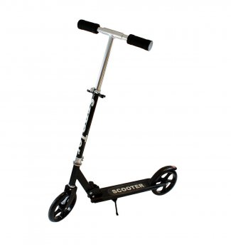 Black Folding Aluminium Scooter for Children and Adults, 90 - 100см