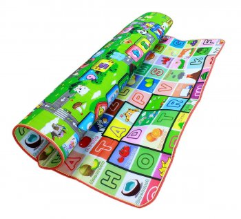 Children's Educational Double-sided Room Play Mat 197 x 176 cm