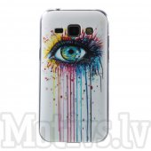 Samsung Galaxy J1 SM-J100F J100H Winter TPU case cover shell, the eye - vāks vāciņš maks maciņš
