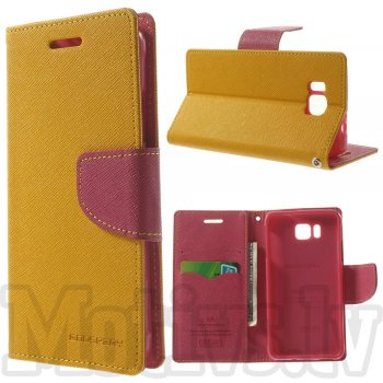 Samsung Galaxy Alpha G850F G850A S801 Mercury Goospery Fancy Diary Case Leather Cover, rose/yellow – aksesuārs vāks maks
