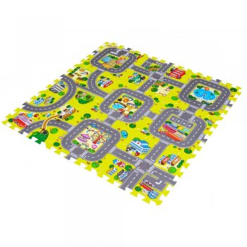 Floor Jigsaws Puzzle Play Mats for kids with a city pattern