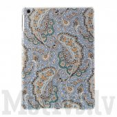 "Apple iPad Air 5 9.7"" Wave Floral Pattern Cloth Coated hard case cover"