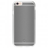 "Apple iPhone 6 6S 4.7"" Baseus Glory Grid Plated PC Hard Plastic Protective Back Cover, grey - vāks maks"