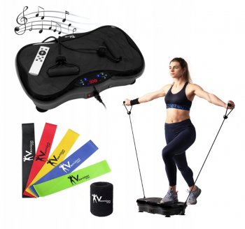 Exercise Fitness Vibration Machine Platform Bluetooth Remote Control + Resistance Bands