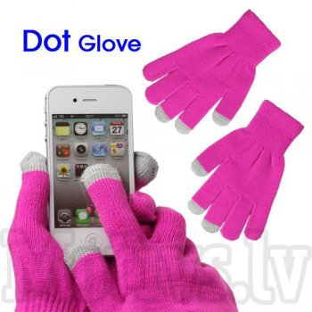 Capacitive Touch Screen Knitted Gloves for iPhone, Samsung, HTC, LG, Nokia, Sony Smartphones, rose - cimdi skārienjūtīgam ekrānam