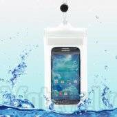 Waterproof PVC pouch bag case + strap for Samsung Galaxy Note 2, 3, S3, S4, S5, HTC, Nokia, Sony, LG, transparent - universālais ūdensnecaurlaidīgs ma