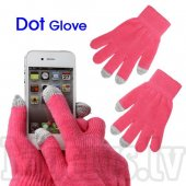 Capacitive Touch Screen Knitted Gloves for iPhone, Samsung, HTC, LG, Nokia, Sony Smartphones, pink - cimdi skārienjūtīgam ekrānam