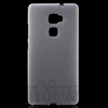 "Huawei Ascend Mate S 5.5"" Frosted TPU Gel Case Bumper Cover, white - vāks bamperis"
