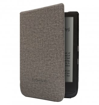 Pocketbook Touch Lux 4 627 / Basic Lux 2 616 / Touch HD 3 632 Original Case Cover - Grey, e-grāmatas vāciņš