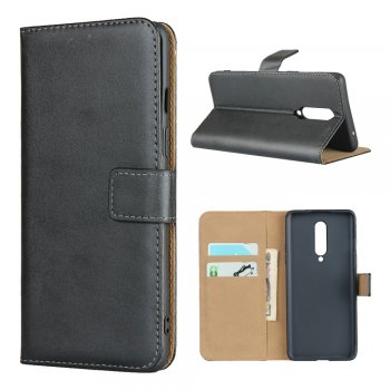 OnePlus 8 Genuine Leather Phone Case Cover Shell with Wallet Stand, Black | Чехол Книжка для телефона