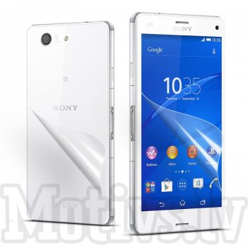 Screen Protector Front and Back for Sony Xperia Z3 Compact Mini D5803 D5833 M55w, transparent clear guard - ekrāna aizsargplēve, protektors