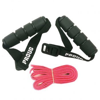 PROUD Adjustable fitness resistance strap band Expander Red