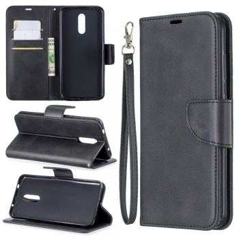 Чехол обложка для Nokia 3.2 | PU Leather Phone Wallet Stand Cover Case for Nokia 3.2 - Black