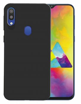 Samsung Galaxy M20 Matte TPU Case Cover Shell, black - матовый чехол бампер