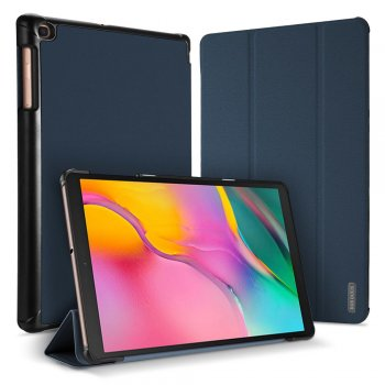 Samsung Galaxy Tab A 10.1 2019 (T510, T515) DUX DUCIS Tri-fold Cloth Texture Tablet Case - Blue