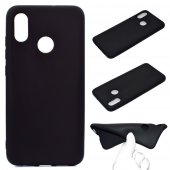 Xiaomi Redmi S2 Flexible TPU Phone Back Case – Black, melns elastīgs silikona maciņs