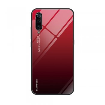 Gradient Tempered Glass TPU + PC Mobile Back Cover for Xiaomi Mi 9 - Red | Обложка бампер