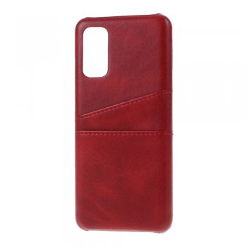 Samsung Galaxy S20 PU Leather Coated PC Case Cover - Red | Telefona vāciņš maciņš bampers