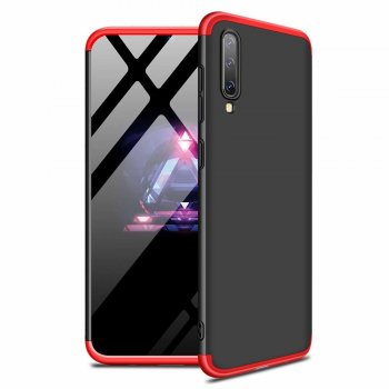 Samsung Galaxy A50 2019 (SM-A505F) GKK 360 Case Cover, Black-Red