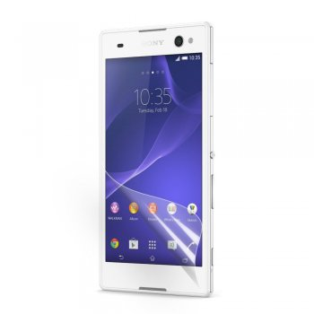 Screen Protector for Sony Xperia C3 D2533 S55u Dual D2502, transparent clear guard - ekrāna aizsargplēve, protektors