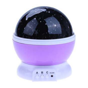 Dream Rotating Night Star Projection Lamp, PURPLE