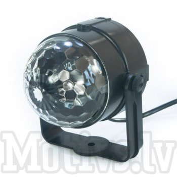 DJ Disco Party Magic Crystal RGB LED R22E, black - disko pusbubma