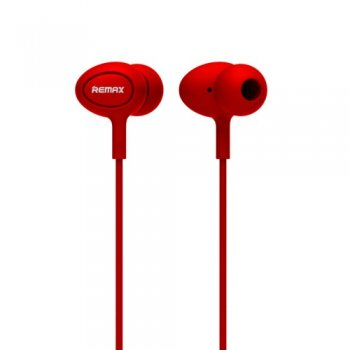 Austiņas ar mikrofonu - Remax RM-515 In-ear Headphones with microphone, red