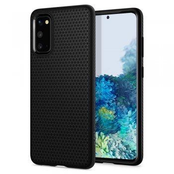 Samsung Galaxy S20 Spigen Liquid Air TPU Case, black | Vāks bamperis, Melns