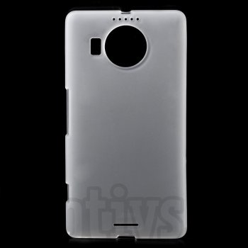 Microsoft Lumia 950 XL Frosted TPU Gel Case Bumper Cover, white - vāks bamperis