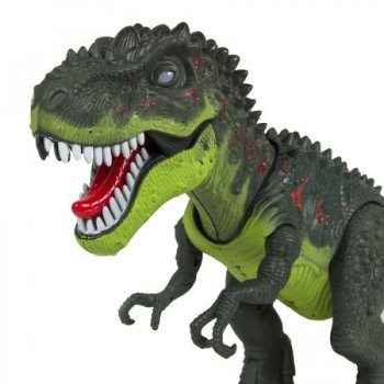 Battery Operated Tyrannosaurus T-Rex Walking Dinosaur Toy with Flash Eyes and Realistic Roaring Sounds. Green