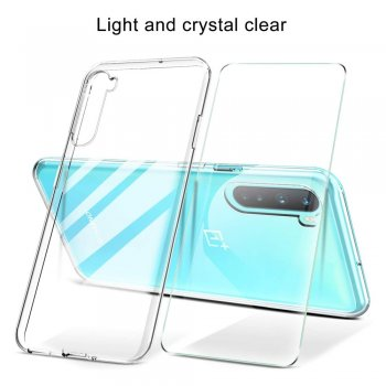 OnePlus Nord TPU Cover Phone Case Cover + Tempered Glass Screen Protector, Transparent