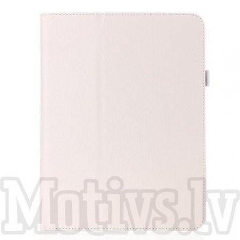 Samsung Galaxy Tab 4 10.1 T530 T531 T535 Leather Stand Smart Case Cover, white - vāks apvalks pārvalks maks