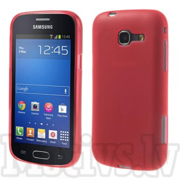 Samsung Galaxy Trend Lite S7390 Fresh S7392 Frosted TPU Gel Case Bumper Cover, red - aksesuārs vāks bamperis