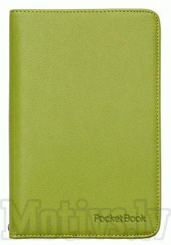 "Pocketbook 6"" Touch Lux 3 614, 615, 624, 625, 626, 631, 641 original case cover, green - zaļš vāks"