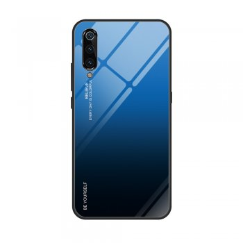 Gradient Tempered Glass TPU + PC Mobile Back Cover for Xiaomi Mi 9 - Blue / Black | Обложка бампер