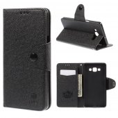 Samsung Galaxy A7 SM-A700F Duos MLT Wallet Leather Stand Cover, black - aksesuārs vāks maks