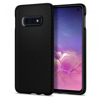 Samsung Galaxy S10e SM-G970F Spigen Liquid Air TPU Gel Case Bumper Cover, black - vāks bamperis