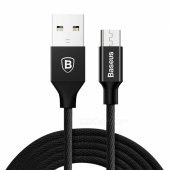 Baseus Yiven Micro USB 2A Fast Charge Data Charging Cable - Black (1.5M) - lādētajvads