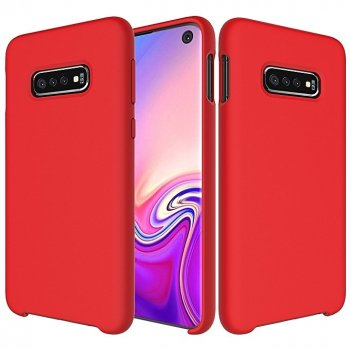 Samsung Galaxy S10 (G973F) Soft Flexible Silicone Cover Case, Red